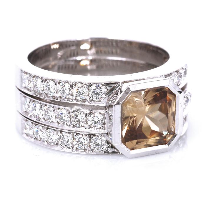 Bandring zirkoon en diamant