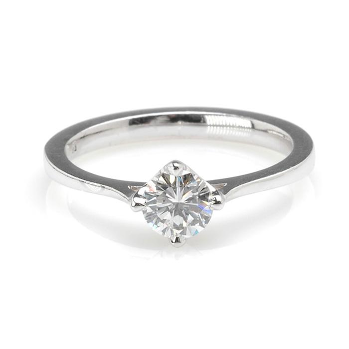 Witgouden solitair diamant 0,55ct voor