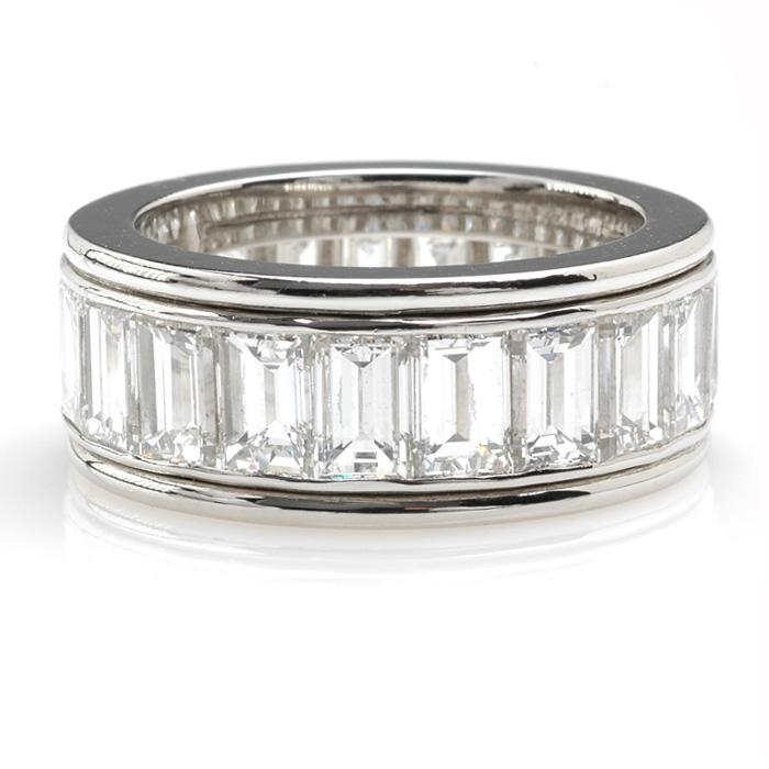 Platina alliance emeraud diamant voor