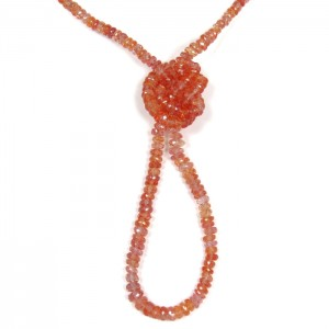 Padparadscha collier