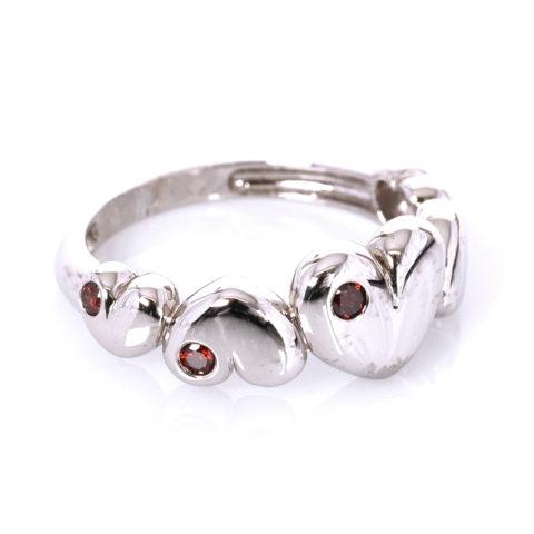 Hartjes-ring met diamant