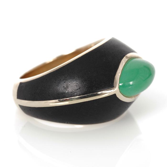 Ring jade en hout