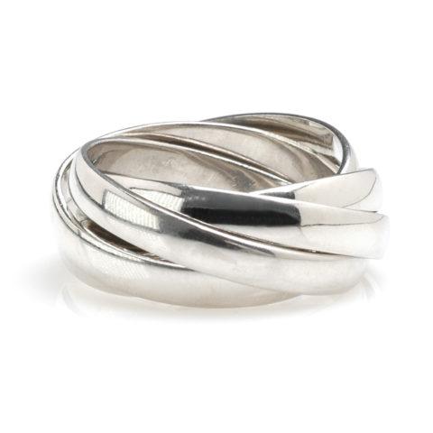 Platina ring combinatie voor