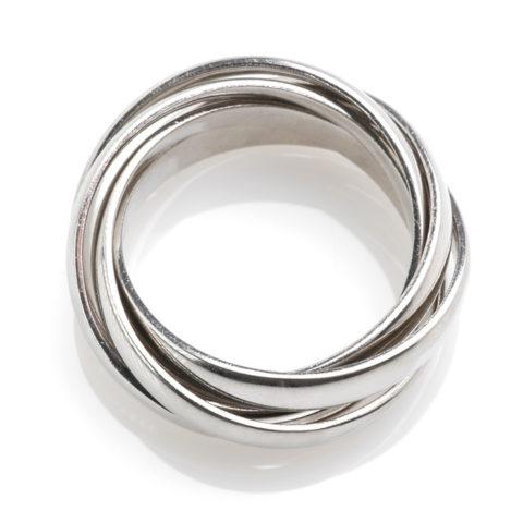 Platina ring combinatie boven