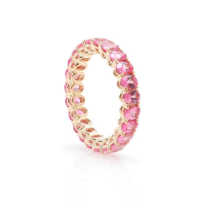 Alliance ovale roze spinel schuin