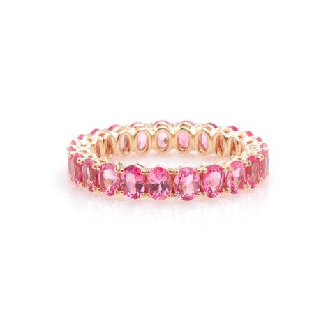 Alliance ovale roze spinel voor