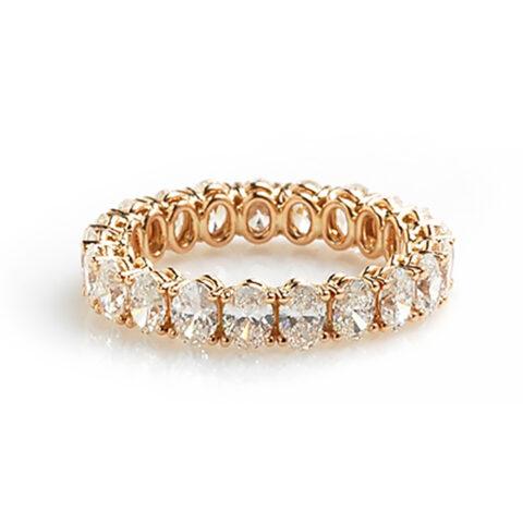 Alliance ovale diamanten voor