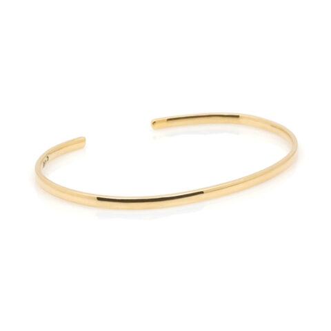 Minimalistische cuff armband schuin